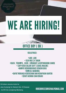 Lowongan Kerja Office Boy (OB) Bandung