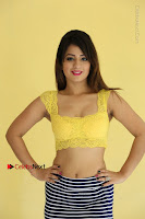 Cute Telugu Actress Shunaya Solanki High Definition Spicy Pos in Yellow Top and Skirt  0124.JPG