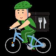 自転車デリバリーのイラスト