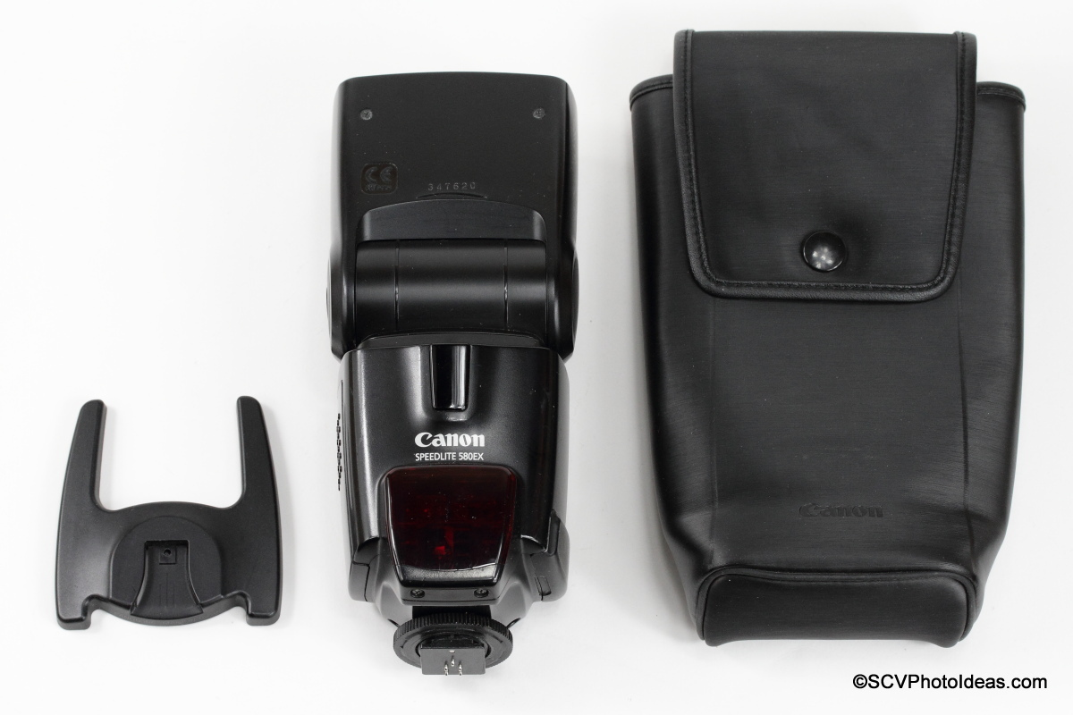 Canon Speedlite 580EX flash, stand and case