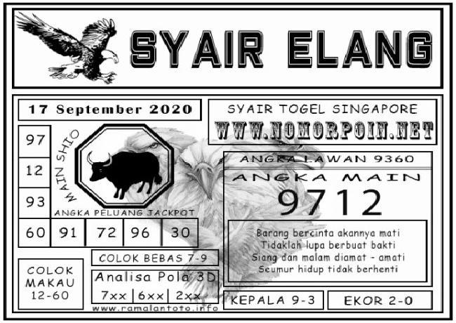 Kode syair Singapore Kamis 17 September 2020 121
