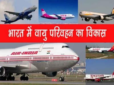 भारत में वायु परिवहन का विकास | वायु परिवहन की समस्याएं |Development of Air Transport in India