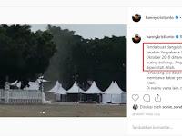 Tenda Dangndutan di Alun-alun Utara Jogja Hancur Diterjang Angin Puting Beliung
