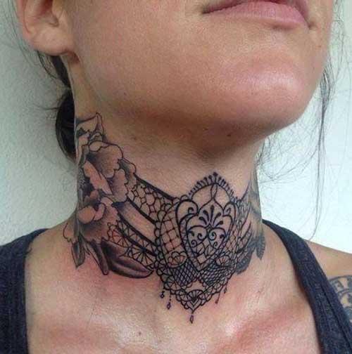 lace neck tattoo