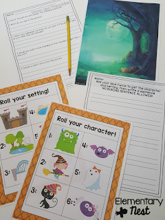 Halloween Writing activities- October Activities for a primary classroom- PLUS a freebie!