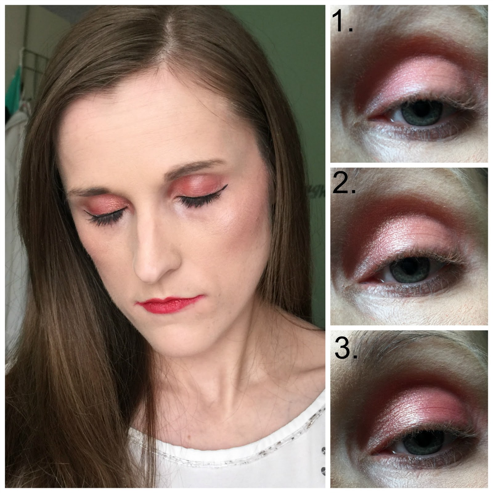 mua burning embers palette pink inspiration look