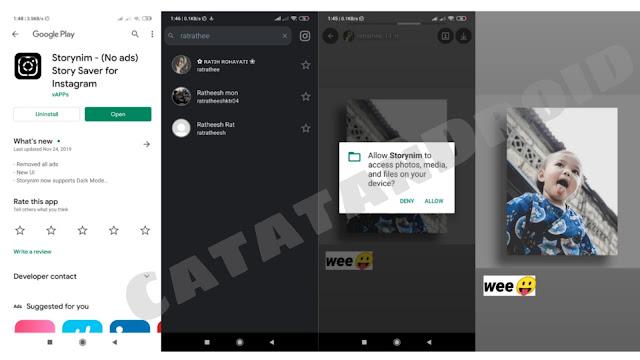 simpan stories instagram orang dengan aplikasi