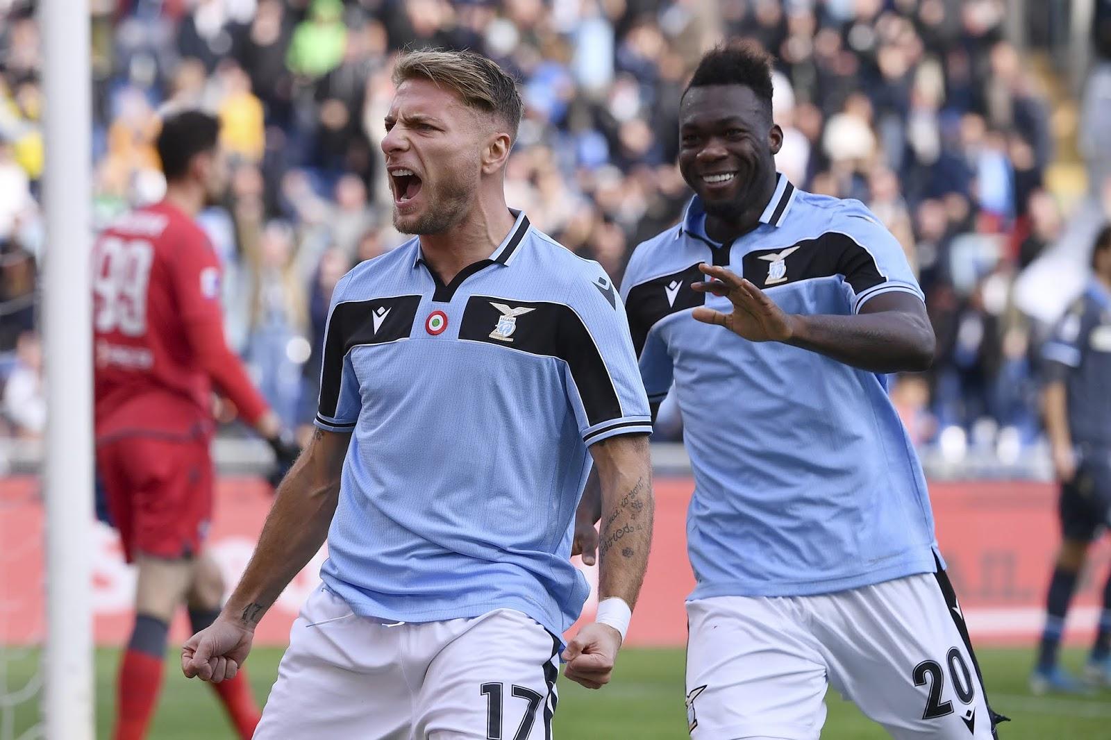Lazio striker Ciro Immobile
