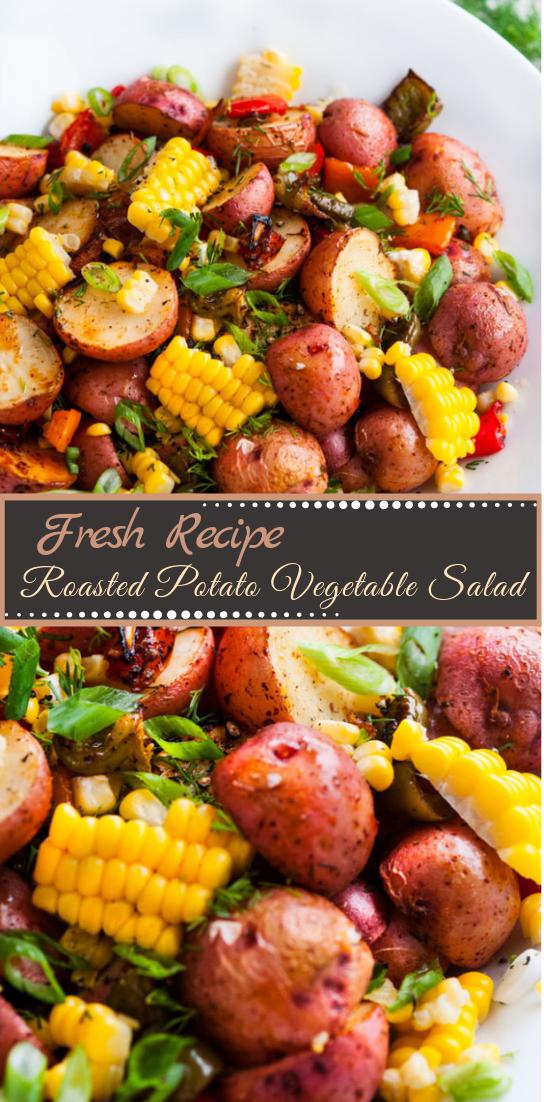 Roasted Potato Vegetable Salad #vegan #vegetarian #soup #breakfast #lunch