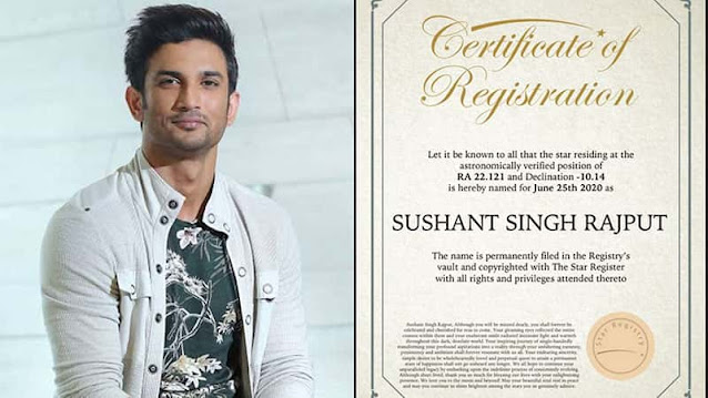 A-fan-registered-Star-on-Sushant-Singh-Rajput-name