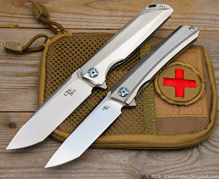 CH Knives CH3507 (M390) and CH3002 (D2)