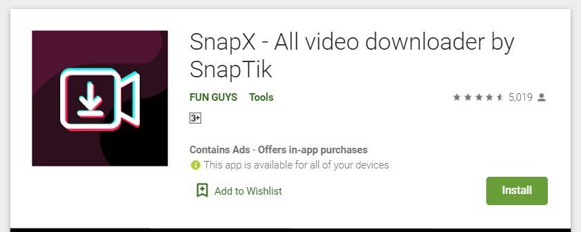 snapx video downloader daari snaptik tiktok