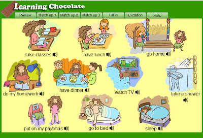 ENGLISH IS FUN 2: DAILY ROUTINE WORDS by Learning chocolate