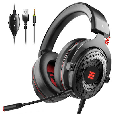 EKSA E900 Gaming Headset Xbox One Headset with 7.1 Surround Sound,