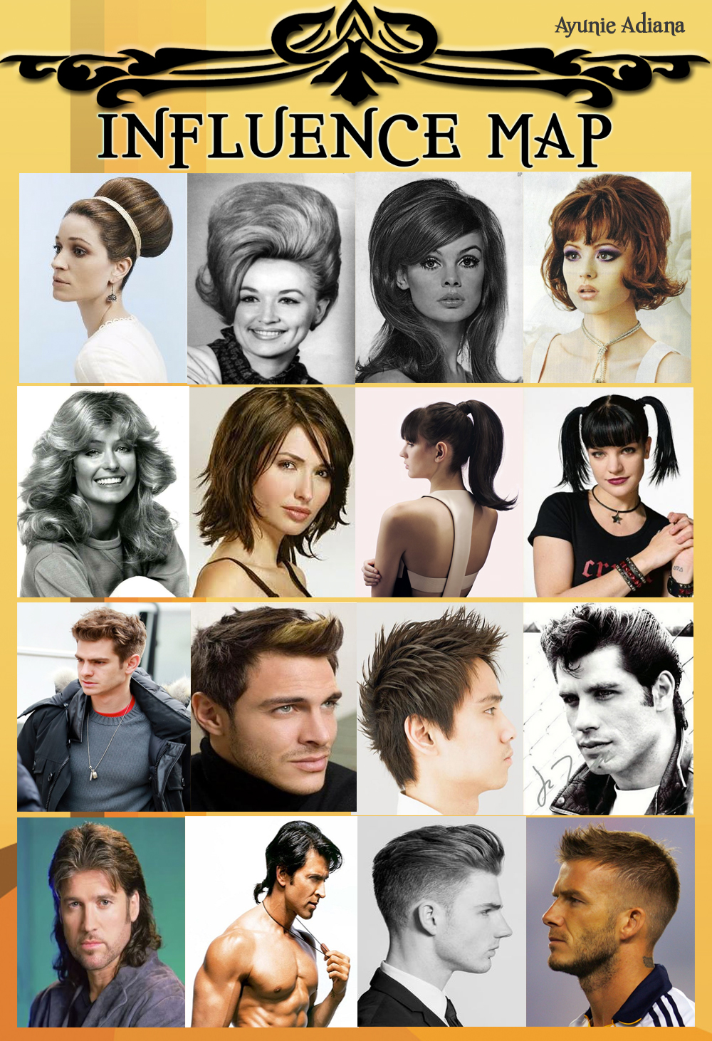 ayunie adiana: adaptation a: hairstyles through the years