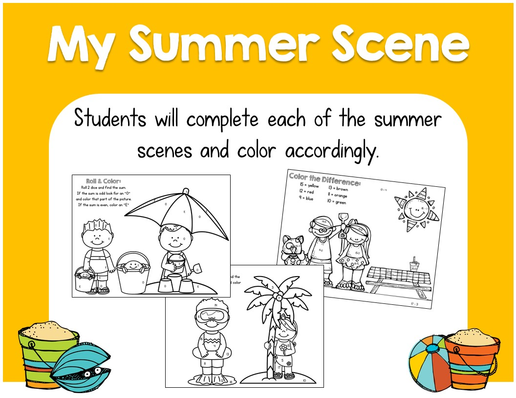 End Of Year Summer Math Activities For First Grade