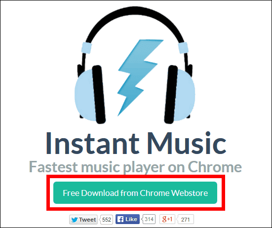 Instant Music for chrome