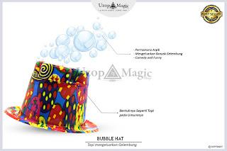 Jual alat sulap bubble hat - uzop magicshop