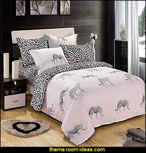 Leopard 16 Cotton Bedding a Family, 3D Oil Print Bedding Cotton Luxury Romantic Bedroom
