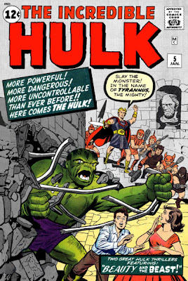 Incredible Hulk #5, the Hulk crashes through a wall, on his way to a confrontation with Tyrannus