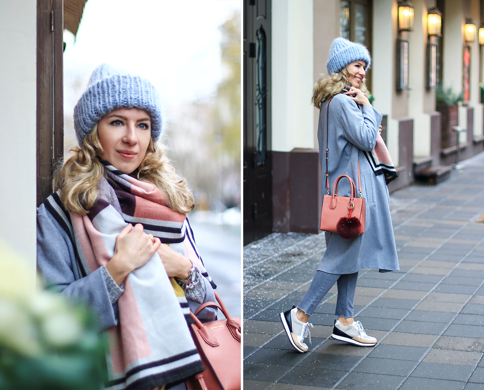 margarita_maslova_color_block_grey_oversize_coat_bini_hat_sneackers_zara5