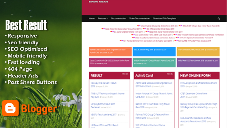 Sarkari Result Premium Responsive Blogger Template