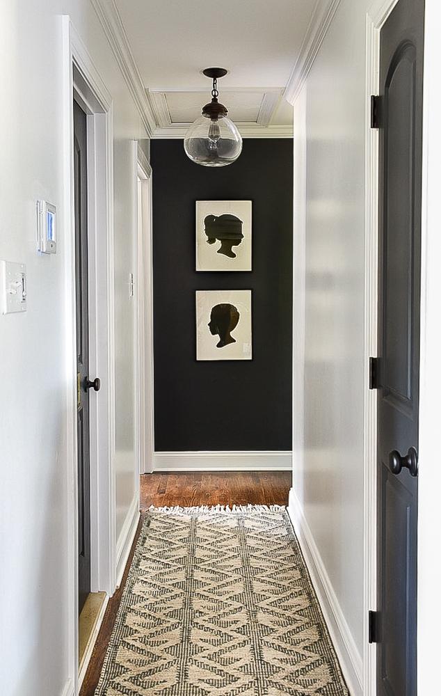 Vintage modern high contrast hallway