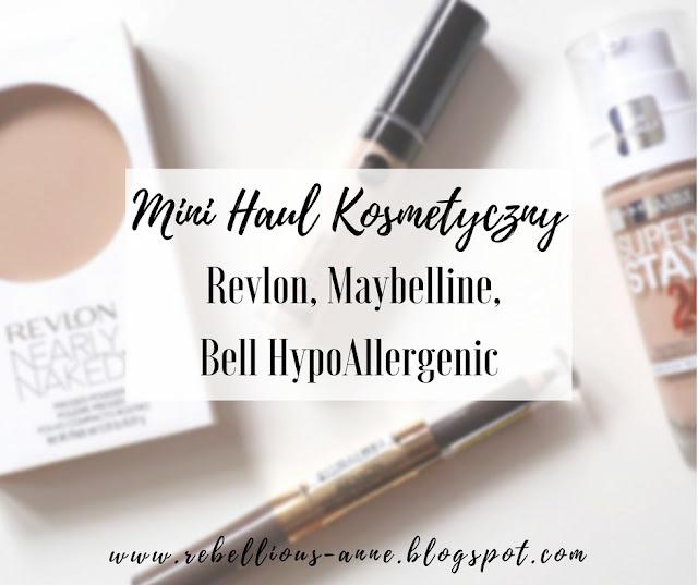 Mini haul kosmetyczny - Revlon, Maybelline, Bell HypoAllergenic