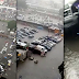 Vehicles submerged on Lagos Island amid heavy rainfall