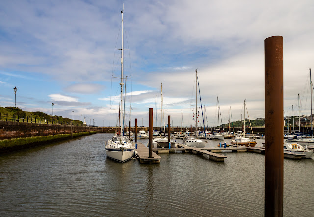 Photo of clearing skies at Maryport Marina today (Friday)