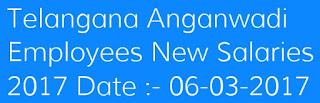 Telangana Anganwadi Employees New Salaries 2017