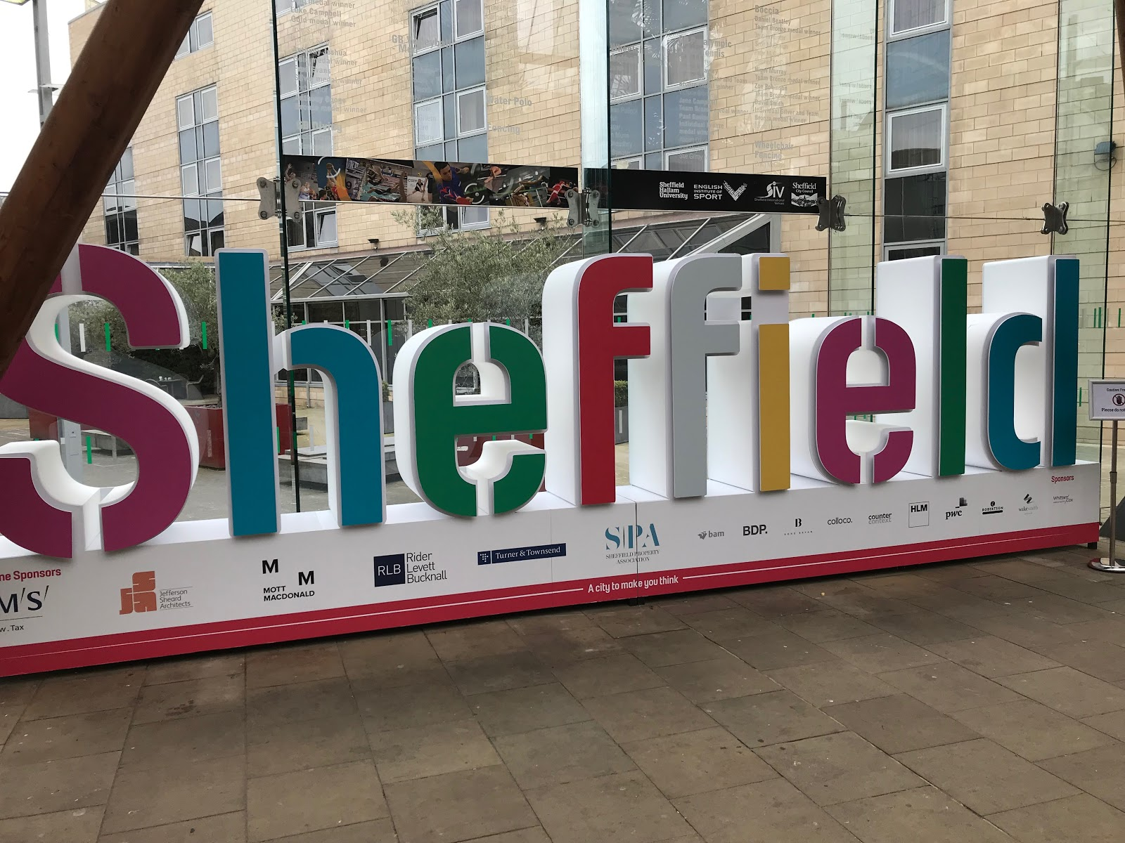 Sheffield Winter Gardens Sign