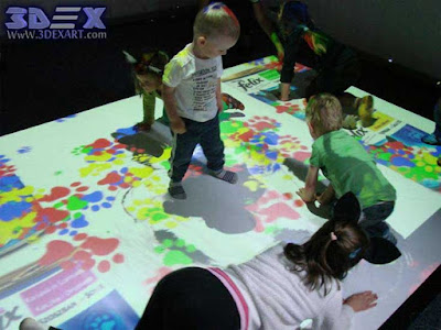 Interactive Floor Projection, interactive floor for kids playing