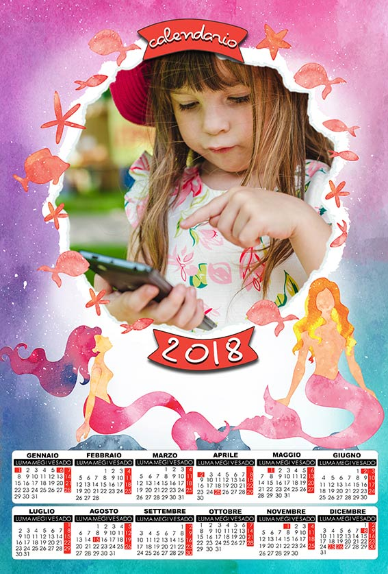 Favori risorse per photoshop: Calendari 2018 in anteprima DV26