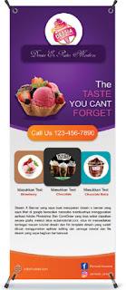 Download template X Banner Makanan PSD