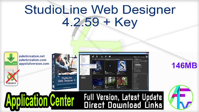 StudioLine Web Designer 4.2.59 + Key