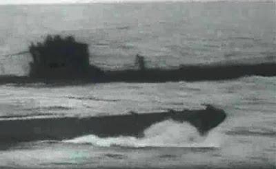 La imagen original del submarino alemán sin manipular