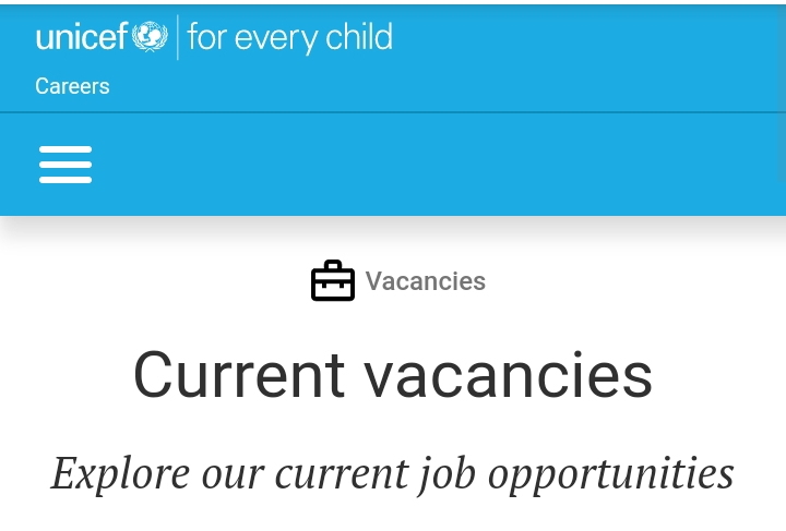 UNICEF VACANCIES: 20 Ongoing UNICEF VACANCIES For NCE, ND, HND and Degree Holders
