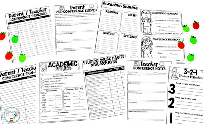 Parent Teacher conferences do not need to be stressful.  Stay organized and on track with these helpful printables that are available as print & go or editable.