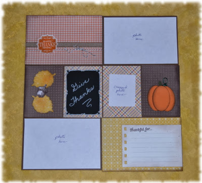 Thanksgiving, Pocket Page, Stamp with Trude, Stampin' Up!, autumn, fall, scrapbook page