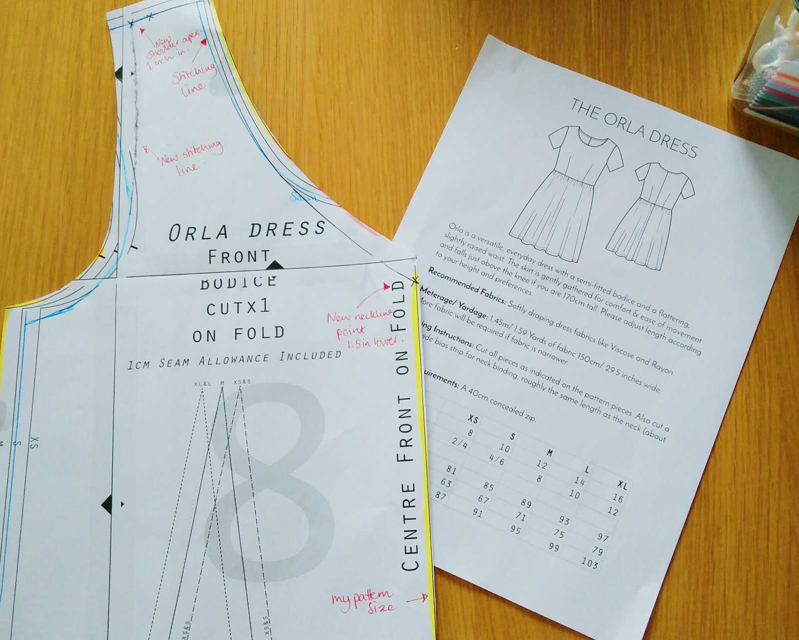 Orla dress alterations