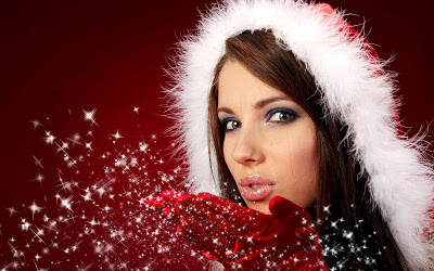 Christmas-girls-wallpapers-christmas-girl-with-red-christmas-hat-and-stars-red-wallpaper