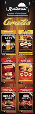 plantillas para menus de restaurantes psd editables