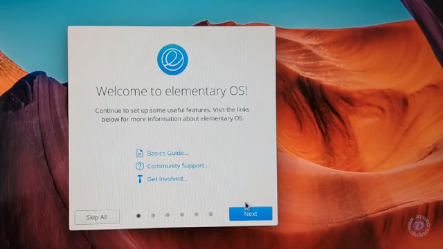 Welcome Screen do elementary OS