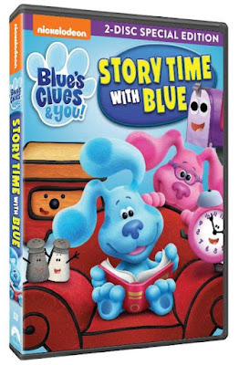 blues clues, story time with blue, blues clues dvd, nickelodeon tv shows, preschool tv shows