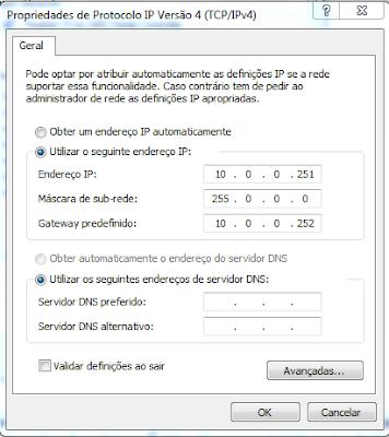 IP da placa de rede para acessar a HP LaserJet M3035 MFP