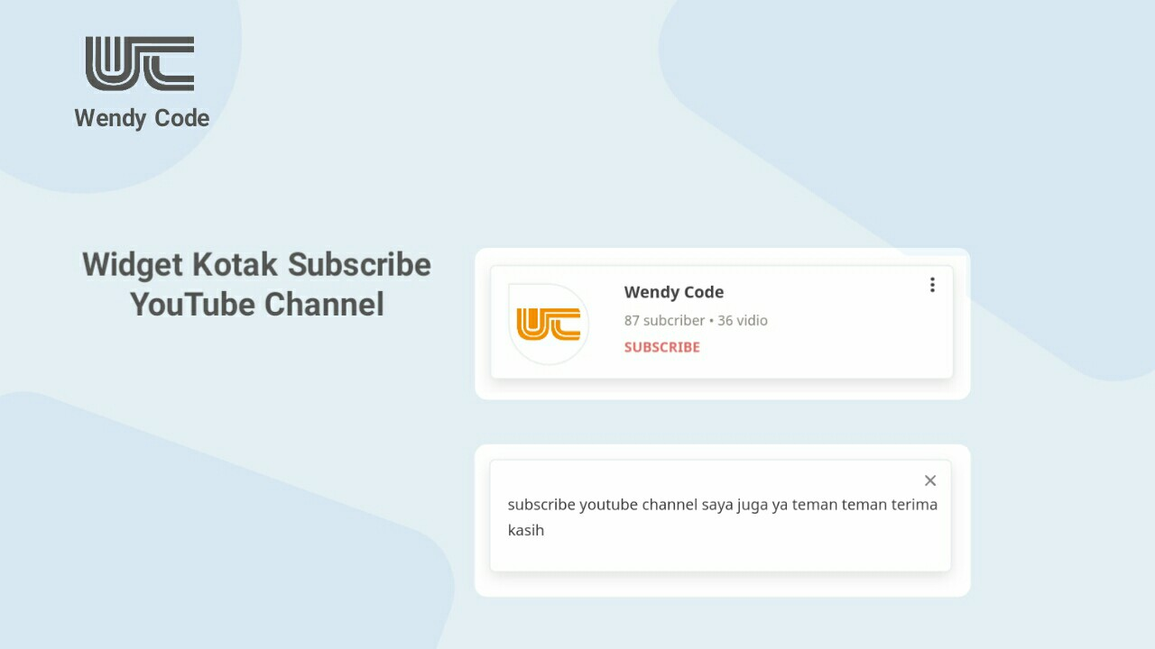 widget kotak subscribe youtube channel