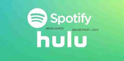 BIN Method Spotify 60 Days Premium + Hulu Premium by Spotify Only