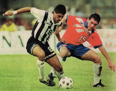 Costa Rica y Chile en partido amistoso, 25 de agosto de 1996