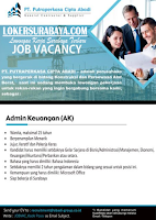 Job Vacancy at PT. Putraperkasa Cipta Abadi Surabaya Juli 2020